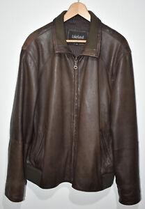 "Mens Lakeland Brown Fine Leather Jacket Coat 44"" Smart Pockets Collared Free P+P"
