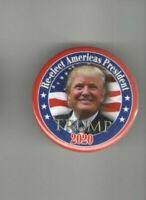 2020 pin DONALD TRUMP pinback Re-elect America's  President Campaign button