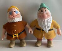 Vtg Disney Snow White Seven Dwarfs 6.5 Plush Body Dolls Applause Doc & Bashful