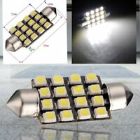 10X Blanco Car Interior Dome C5W SMD 16 LED Festoon Bombilla Luz 39mm 12v N V7D9