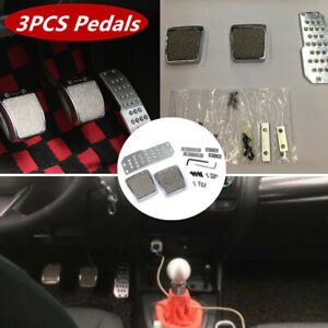 Car Aluminum Alloy Foot Pedals Pad Clutch Brake Non-Slip Manual Footst Cover Set