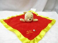 Baby Disney Winnie the Pooh Soft Plush Lovey Security Blanket Infant Hello There
