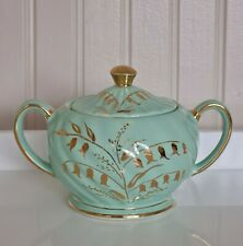 More details for gorgeous green sugar bowl with lid by sadler - free p&p included