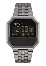 Nixon Reloj hombre mujer acero Volver a ejecutar todos los gunmetal impermeable