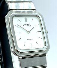 Rara plana Seiko Lassale señores reloj pulsera ref 9300-5559