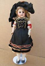 "Antique French Sfbj Paris Bisque Compo Doll In Original Clothes 16"""