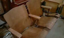 VINTAGE 1930'S SETOF AUDITORIUM SEATS. REFINISHED & BEAUTIFUL! LOOK! 2 SEATER!
