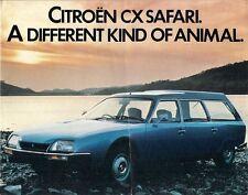 Citroen CX Safari 1977 UK Market Sales Brochure 2400 2200 Diesel