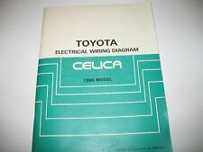 1986 Toyota Celica Electrical Wiring Diagram Manual OEM Very Good Condition