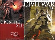Marvel Comic Books Civil War 5 Michael Turner Variant NM+ w Sketchbook Nm