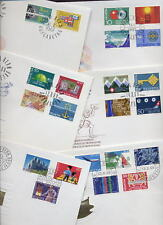 SWITZERLAND 1962-9 SETS on ILL.FIRST DAY COVERS 13 DIFF