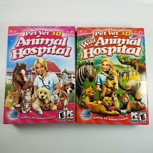 Pet Vet 3D Animal Hospital & Wild Animal Hospital PC Brand New Small Box
