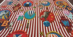 M2M, BLACKOUT LINED ROMAN BLIND, BIG TOP CIRCUS THEME GREATEST SHOW