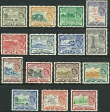 ST CHRISTOPHER NEVIS - 1954 QEII Set to $4.80 MLH SG106a-118 Cv £80 [A1035]
