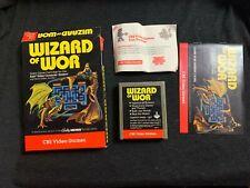 WIZARD OF WOR Atari 2600 Cartridge Box Manual Instructions Complete CIB