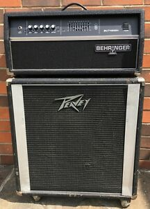 Behringer BVT4500H and Peavey 1x15 450W 4OHMS bass rig -LOW RESERVE
