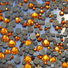 Assortiment strass couleur cuivre  en verre hotfix s06 + s10 + s16 + s20 n°(115)
