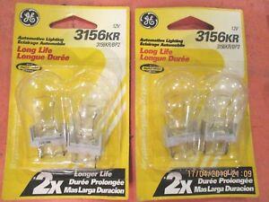 3156KR--GE--LOT-OF--4--LONG-LIFE-Turn Signal Light Bulb-Lamp GE  3156KR/BP2
