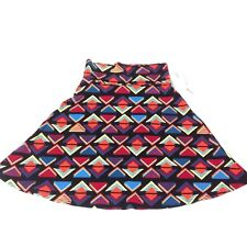Lularoe Azure Skirt Women Size XL Red Blue Black Multi Color New With Tags F3