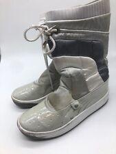 Puma Moon Boots Women 8.5 White Silver Snow Winter Apres Ski