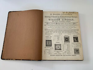 Priced Catalogue of Foreign and Colonial and British Postage Stamps By W Lincoln