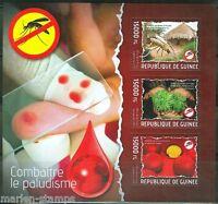 GUINEA 2014 ANTI MALARIA CAMPAIGN SHEET  MINT NH