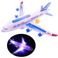 Kids Plane Toy Passenger Airplane A380 Model Glow Light  Music Aircraft Gifts *