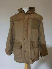 Barbour Durham Classic Wax Jacket Size 38 Sandstone