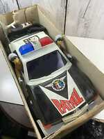 Vintage Toys Police Car Mercedes Benz Rare 1/9 scale plastic Sold As-is