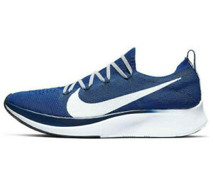 NIKE ZOOM FLY FLYKNIT Running Gym Trainers - UK Size 7 (EUR 41) Royal Blue White