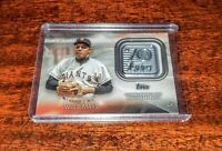 WILLIE MAYS RELIC 2021 TOPPS 70th ANNIVERSARY LOGO PATCH 70LP-WM GIANTS #HOF