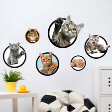 3D Pet Cats Photos Room Home Decor Removable Wall Stickers Decals Decoration