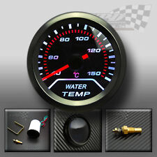 UNIVERSAL WHITE LED WATER TEMPERATURE GAUGE SMOKED DIALS FACE 52mm / 2""