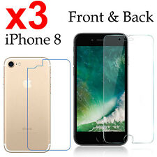 x3 Anti-scratch 4H PET film screen protector Apple iphone 8 front + back