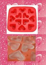 IKEA PLASTIS Synthetic RUBBER ICE CUBE TRAY HEART SHAPES MOLD makes 12 cubes
