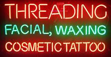 "24""x16"" Threading Facial Waxing Cosmetic Tattoo Open Neon Light Sign Decor Lamp"