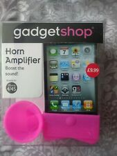 *NEW* GadgetShop Horn Amplifier For iPhone 4/4S Pink