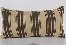"TURKISH 24""x12"" STEEP STRIPED KILIM PILLOW WOOL RECTANGLE HANDWOVEN AREA RUGS"