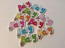10 x 35 mm Misti Bottoni a colori con design bambino.