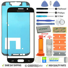 Samsung Galaxy S6 Replacement Screen Front Glass Outer lens Repair Kit BLACK UK
