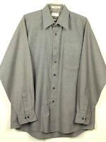 Van Heusen Mens Size 16.5 34/35 Gray Button Down Dress Shirt