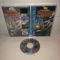 VGC Star Wars: Rebel Assault Sega CD Complete Game CIB Tested Works Great Fun