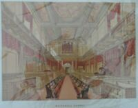 Antique lithograph print - Whitehall chapel - Leighton Bros