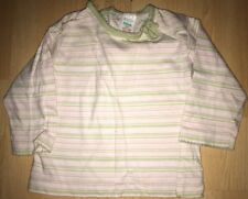 Baby girls pink striped top for 6-9 months from Adams - good condition