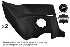 BLUE STITCHING 2X REAR LOWER PANEL LEATHER COVER FITS RENAULT ALPINE GTA V6
