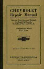 Chevrolet Car & Truck 1931 Shop Manual Chevy