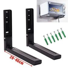 Microwave Black Wall Mounting Holder Brackets With Extendable Arms 40kg load