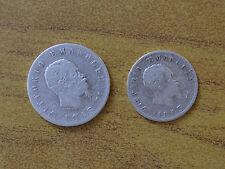 LOTTO 2 MONETE REGNO D' ITALIA VITTORIO EMANUELE II 1 LIRA 2 LIRE 1863 TORINO