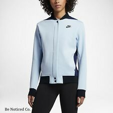 Nike Tech Fleece Destroyer Women's Jacket S Blue Gym Casual Training New