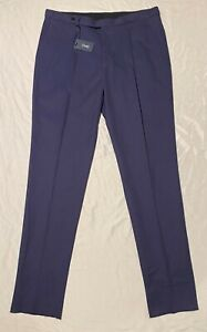 NWT Drake's Navy Chino Adjustable-Pants Men Trouser Size 34R Made In Italy $555